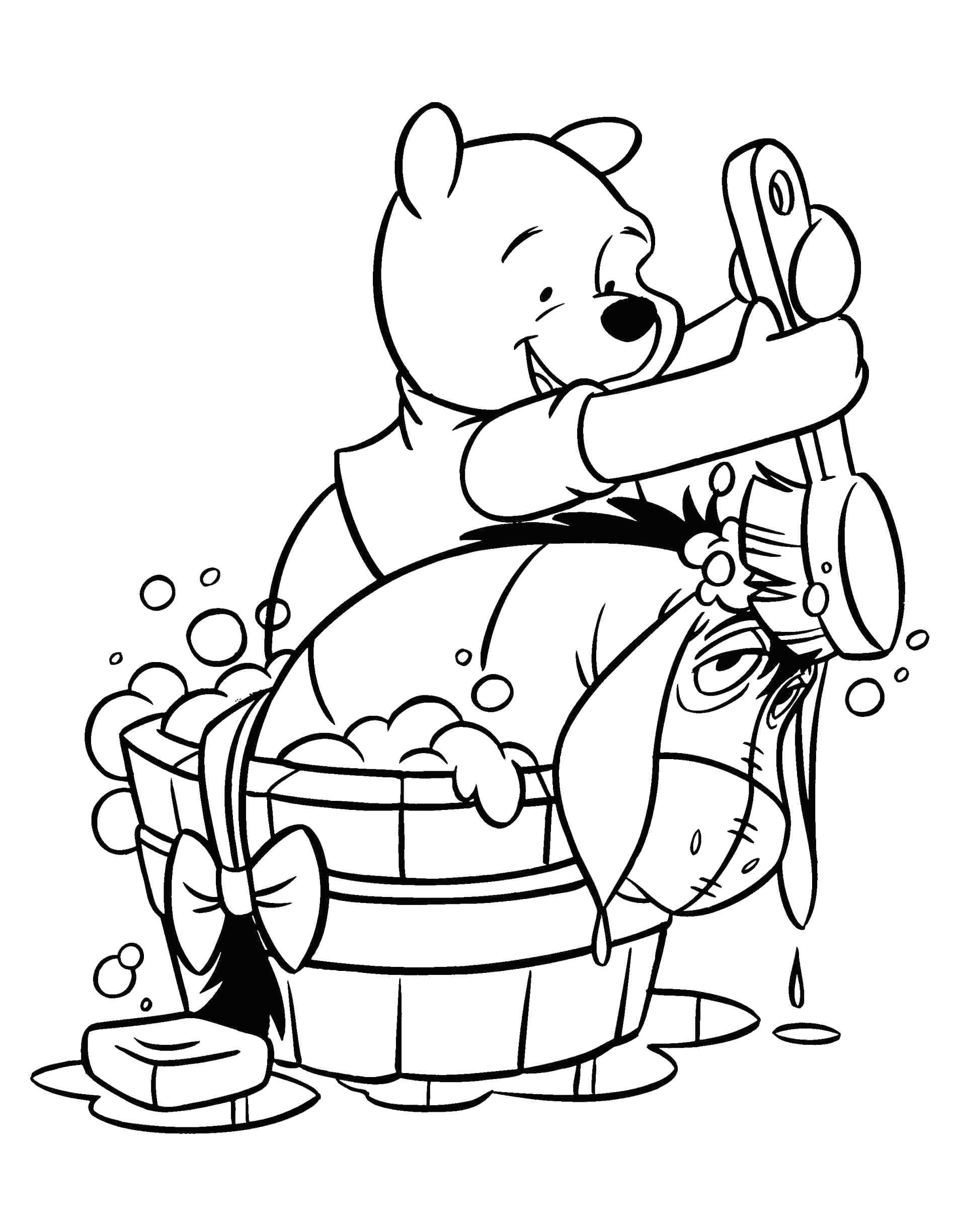1896x2449 Winnie The Pooh Coloring Pages Baby