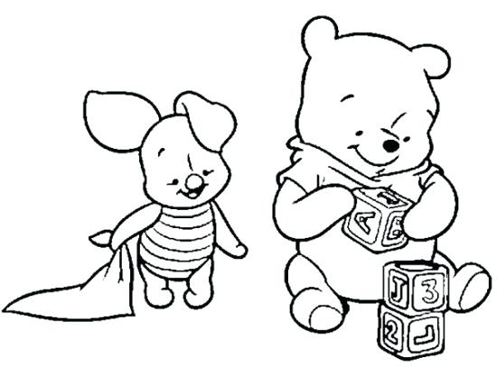 550x407 Baby Pooh Coloring Pages Baby The Pooh Coloring Pages Baby Winnie