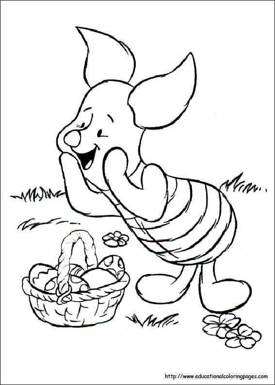 Winnie The Pooh Easter Coloring Pages
