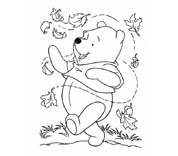 600x525 Winnie The Pooh Fall Coloring Pages