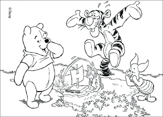 620x443 Winnie The Pooh Fall Coloring Pages The Pooh And Friends Star
