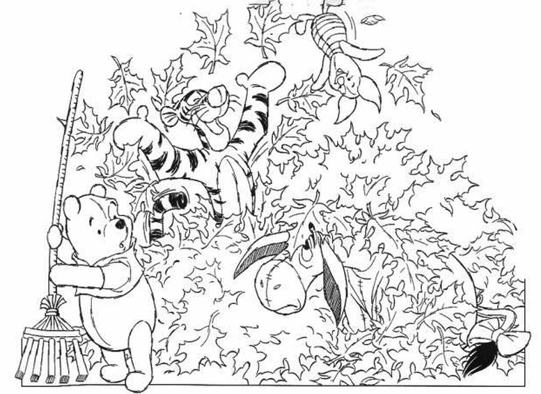 777x565 Winnie The Pooh Fall Coloring Pages Color Bros