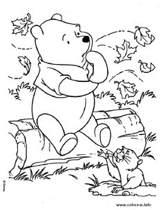 236x305 Winnie The Pooh And Friends Fall Coloring Page Embroidery, Adult