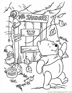 236x306 Winnie The Pooh Fall Coloring Pages Printables