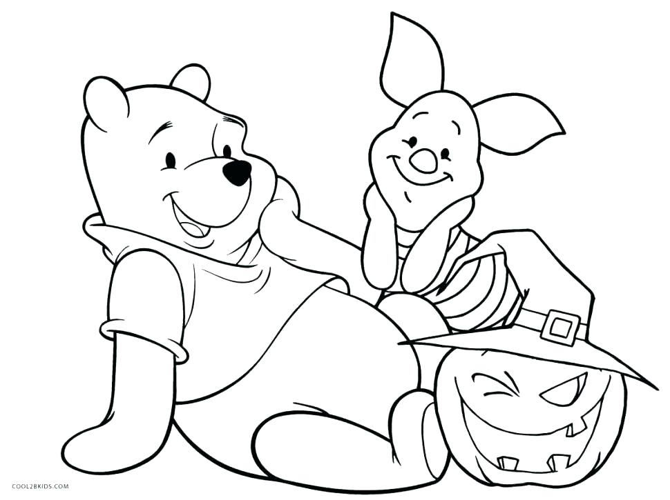 970x725 Winnie The Pooh Free Coloring Pages To Print For Kids And Piglet