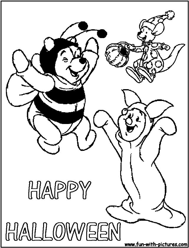 640x840 Winnie The Pooh Halloween Coloring Pages Coloring Pages Kids