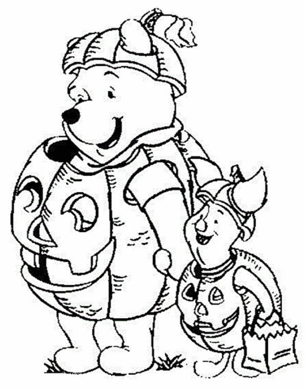 600x763 Free Pooh Friends Halloween Coloring Pages For Kids Halloween