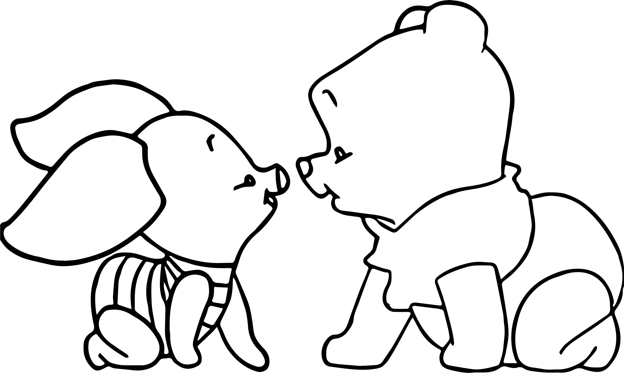 Winnie The Pooh Piglet Coloring Pages