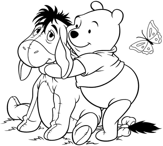 550x490 Sumptuous Design Ideas Winnie The Pooh Coloring Pages Disney Ba