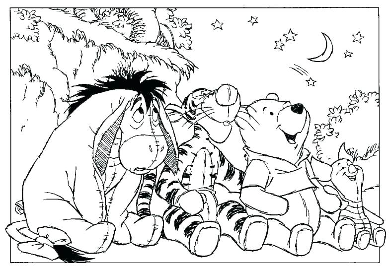 783x540 Winnie The Pooh Printable Coloring Pages