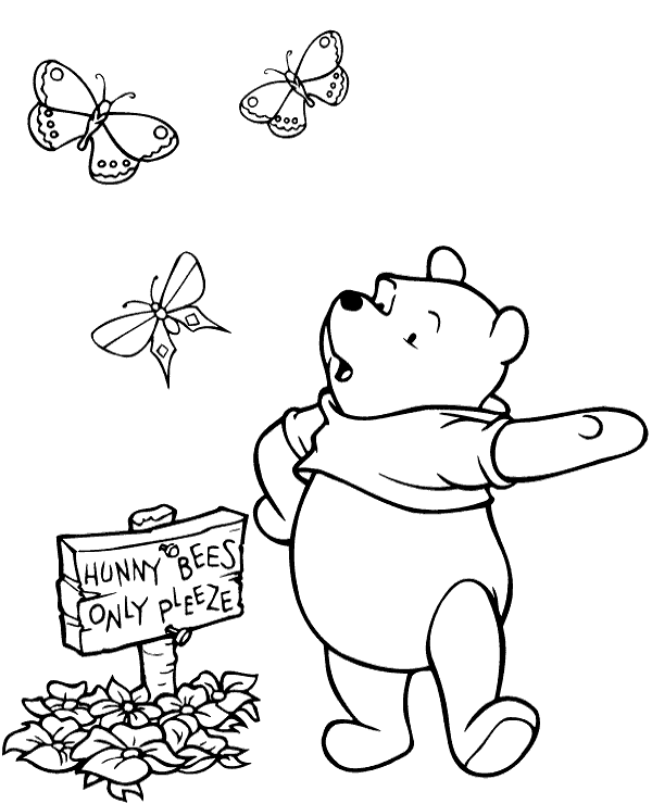 600x740 Winnie Printable Coloring Page To Print Or Download For Free