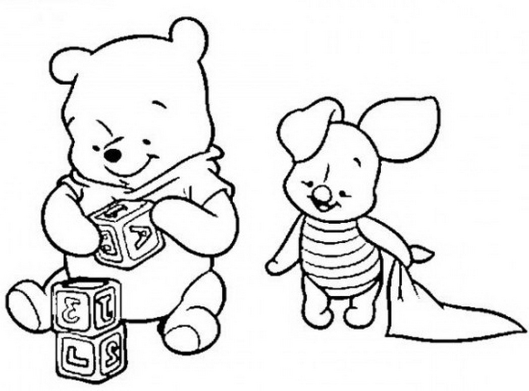 1048x776 Baby Winnie The Pooh Coloring Pages Newyork Rp Com Within