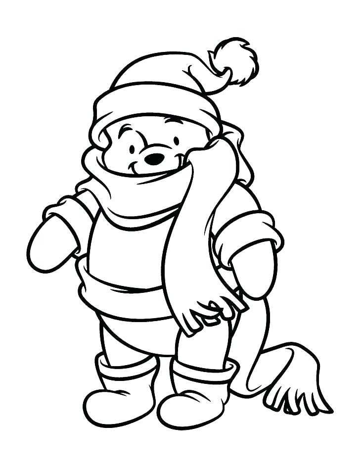 736x950 Free Printable Winnie Pooh Christmas Coloring Pages Printable