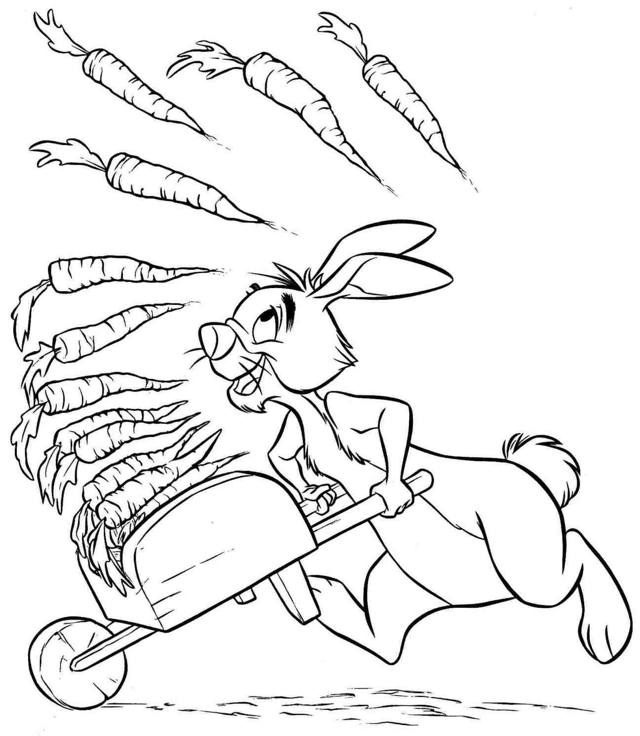 1296x1492 Winnie The Pooh And Rabbit Coloring Pages Web Coloring Pages