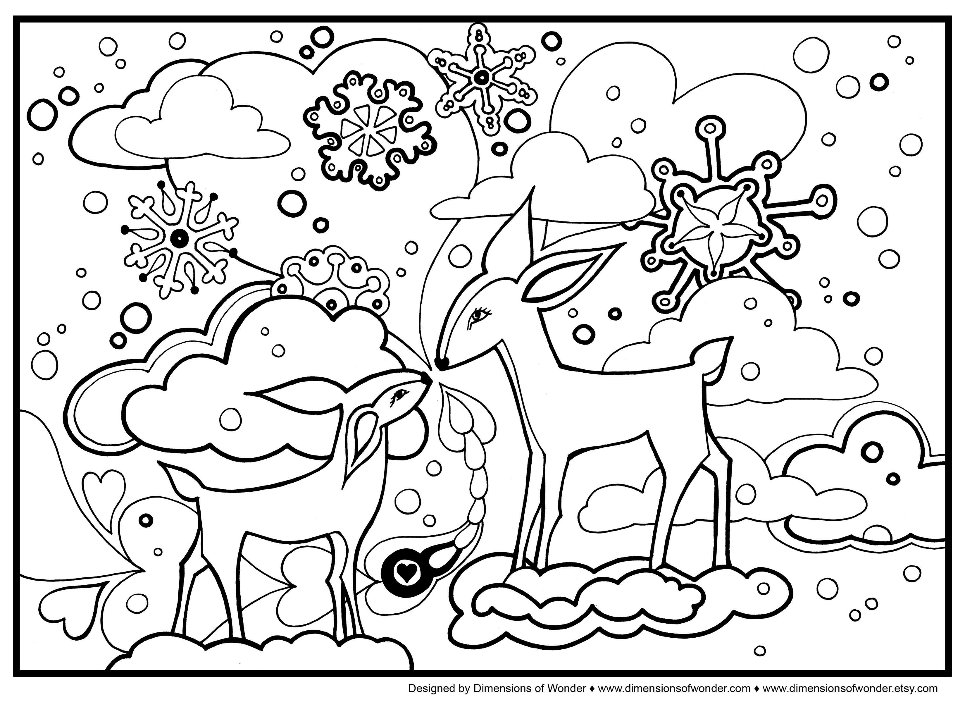 3300x2400 Wonderful Winter Animal Coloring Pages Lifetime Animals Co