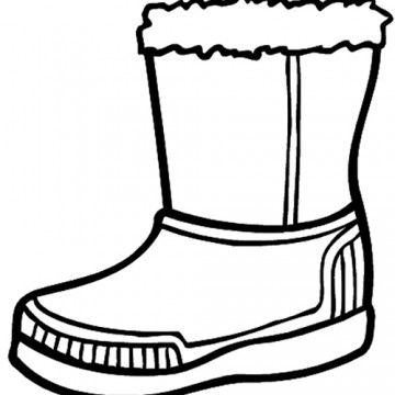 Winter Boots Coloring Pages