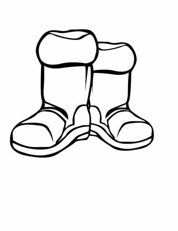 Winter Boots Coloring Pages At Getdrawings Com Free For Personal