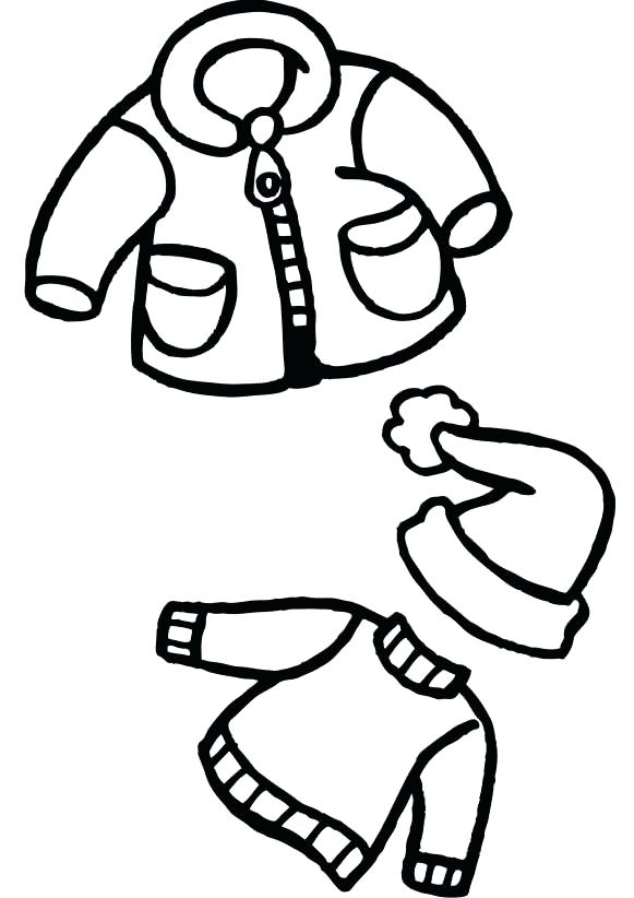 581x822 Clothing Coloring Page Winter Clothes And Hat Coloring Pages