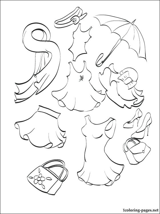 560x750 Clothing Coloring Pages Summer Clothing Coloring Page Coloring