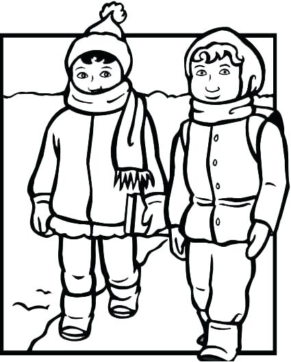 425x528 Luxury Winter Clothing Coloring Pages For Winter Clothes Coloring