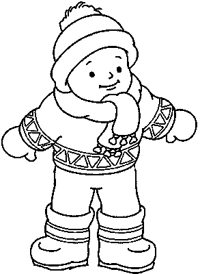 293x400 Winter Clothes Coloring Pages