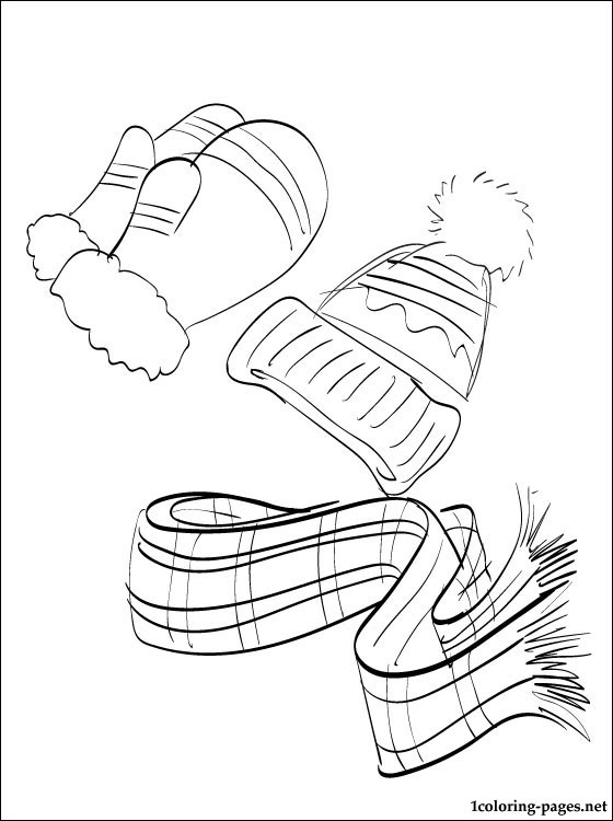 560x750 Winter Clothing Coloring Page Coloring Pages
