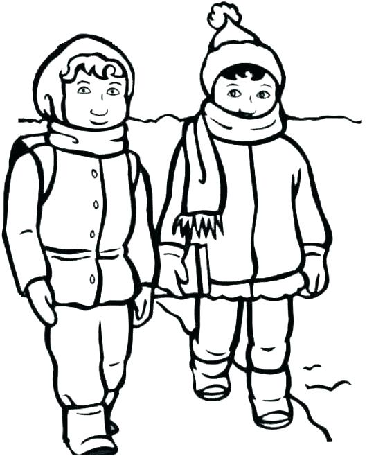 530x658 Clothes Coloring Pages Scarf Coloring Page Winter Clothes Coloring