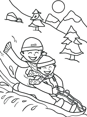 360x480 Winter Clothes Coloring Pages Free Coloring Pages Winter Free