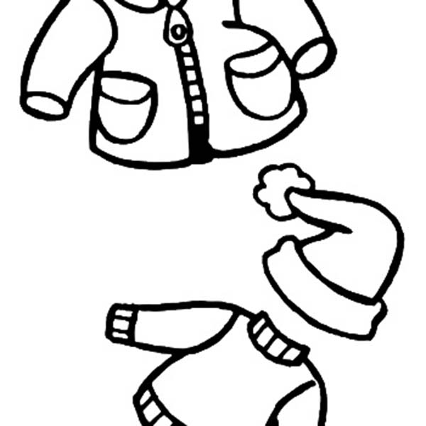 600x600 Winter Clothes Coloring Pages Winter Coloring Page With Winter
