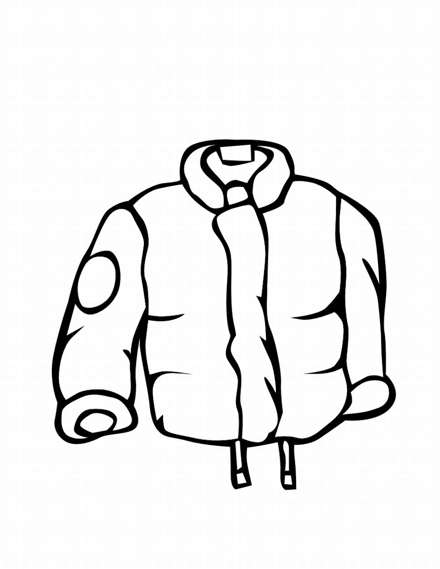 893x1155 Winter Coat Coloring Page
