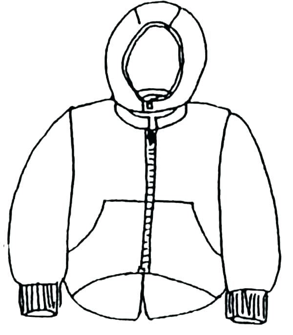 600x687 African Clothing Coloring Pages Clothing Coloring Page Coat Winter