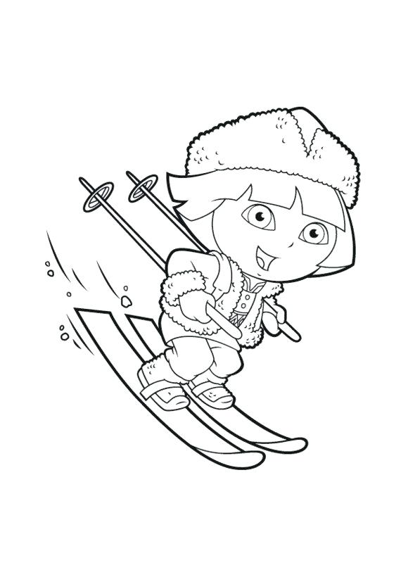 580x820 Winter Coloring Pictures The Explorer Winter Coloring Page Winter
