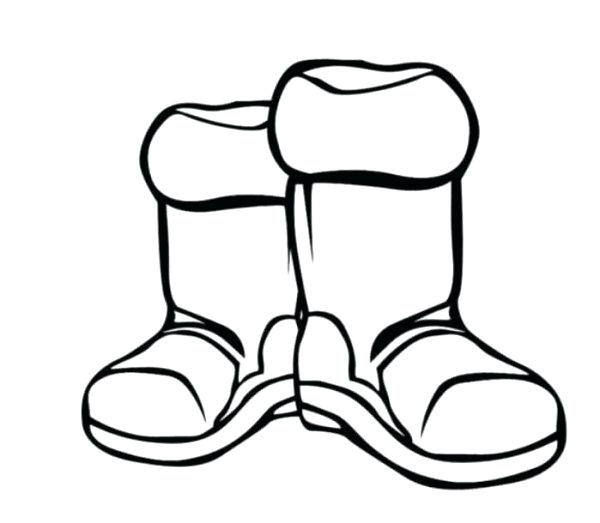 600x523 Clothes Coloring Pages Boots Winter Clothes Coloring Page Winter