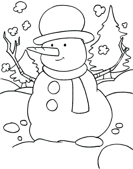 518x657 Kinder Coloring Pages Winter Color Pages Surprising Winter