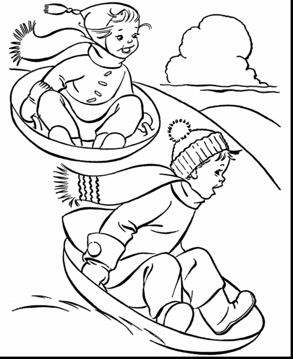 Winter Coloring Sheets For Toddlers – Pusat Hobi