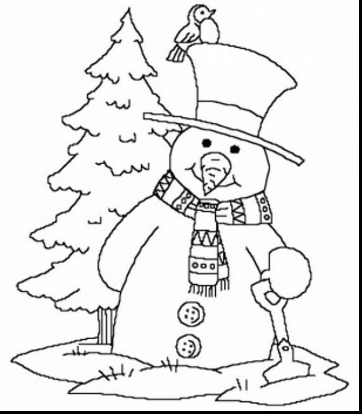 Winter Coloring Pages Kindergarten At Getdrawings Com Free For