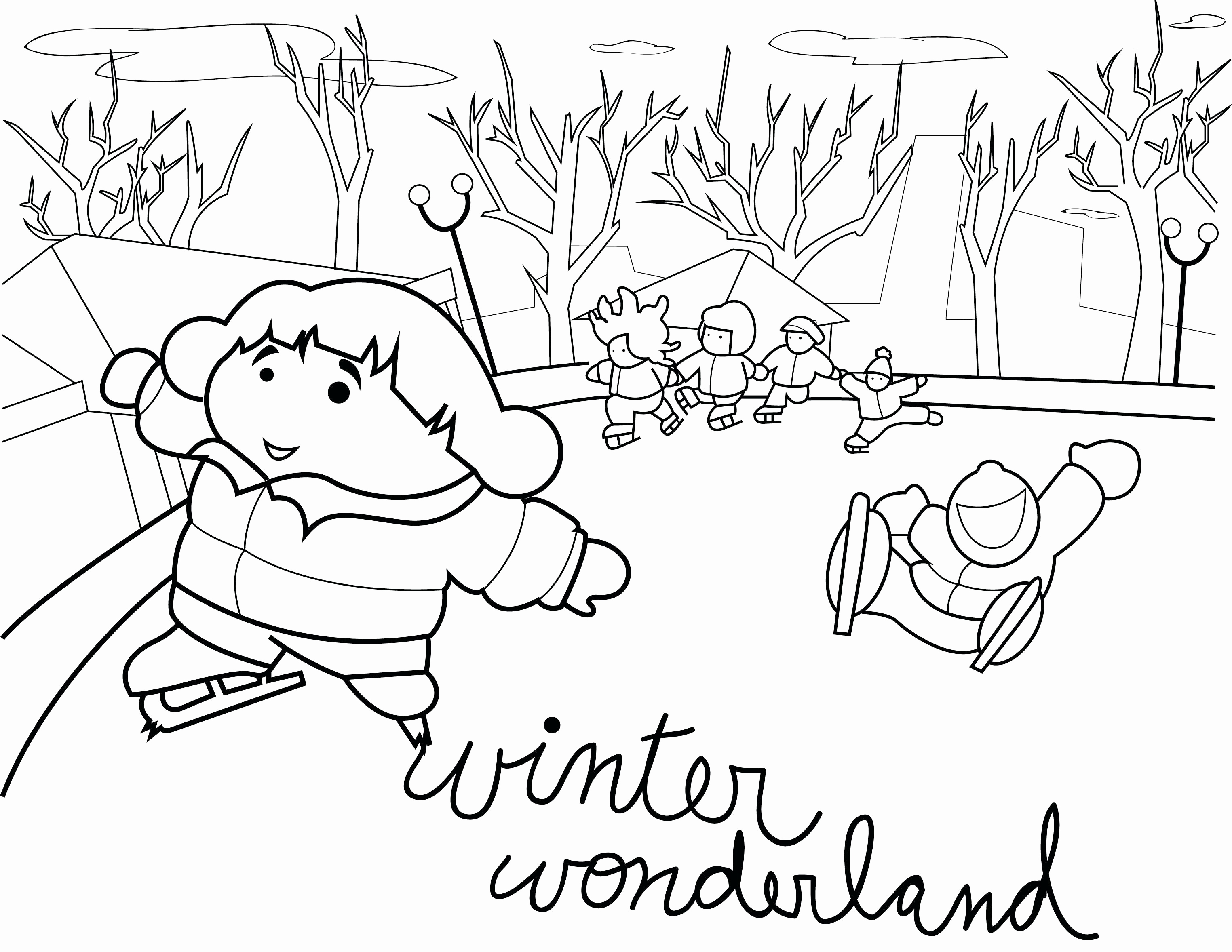 Winter Coloring Pages Pdf