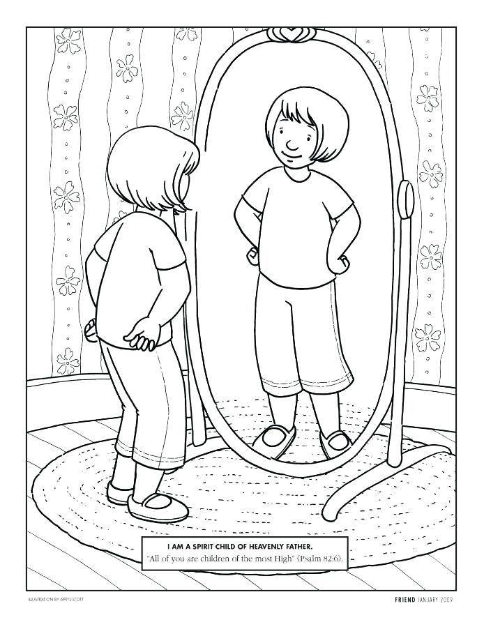 694x902 January Coloring Page Coloring Pages For Girl Looking In A Mirror