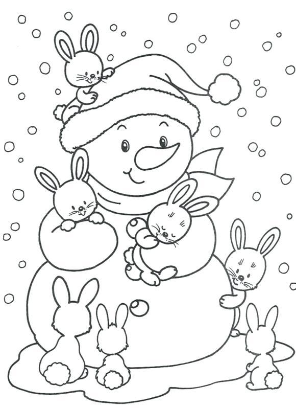 580x798 Winter Coloring Pages Winter Coloring Pages Snowman Fresh Winter