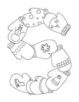 270x350 Winter Coloring Pages Pdf Snowflake Mittens Ski Set Of Four Banner