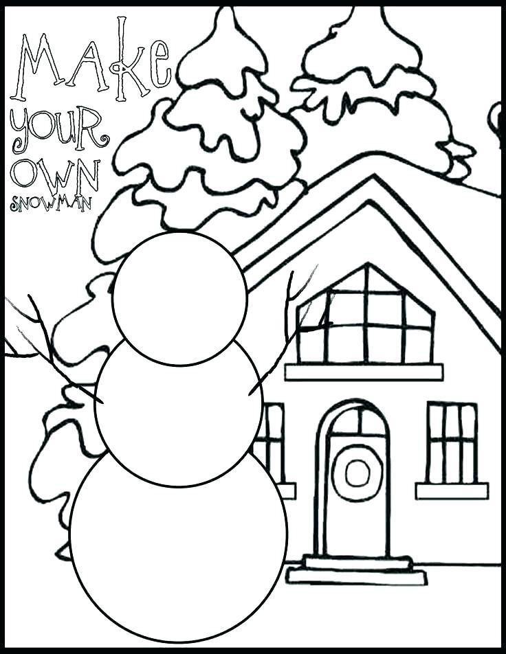 736x952 Winter Scene Coloring Pages Winter Coloring Sheets Printable
