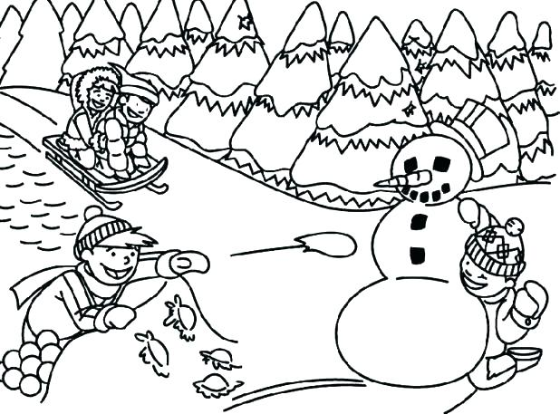 618x457 Coloring Pages For Winter Holidays Coloring Pages Winter Coloring