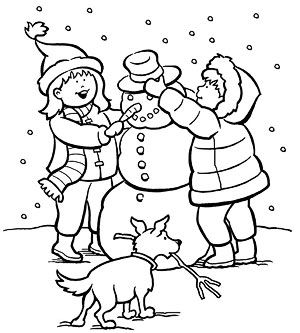 300x333 Printable Winter Coloring Pages Winter Colors, Snowman And Winter