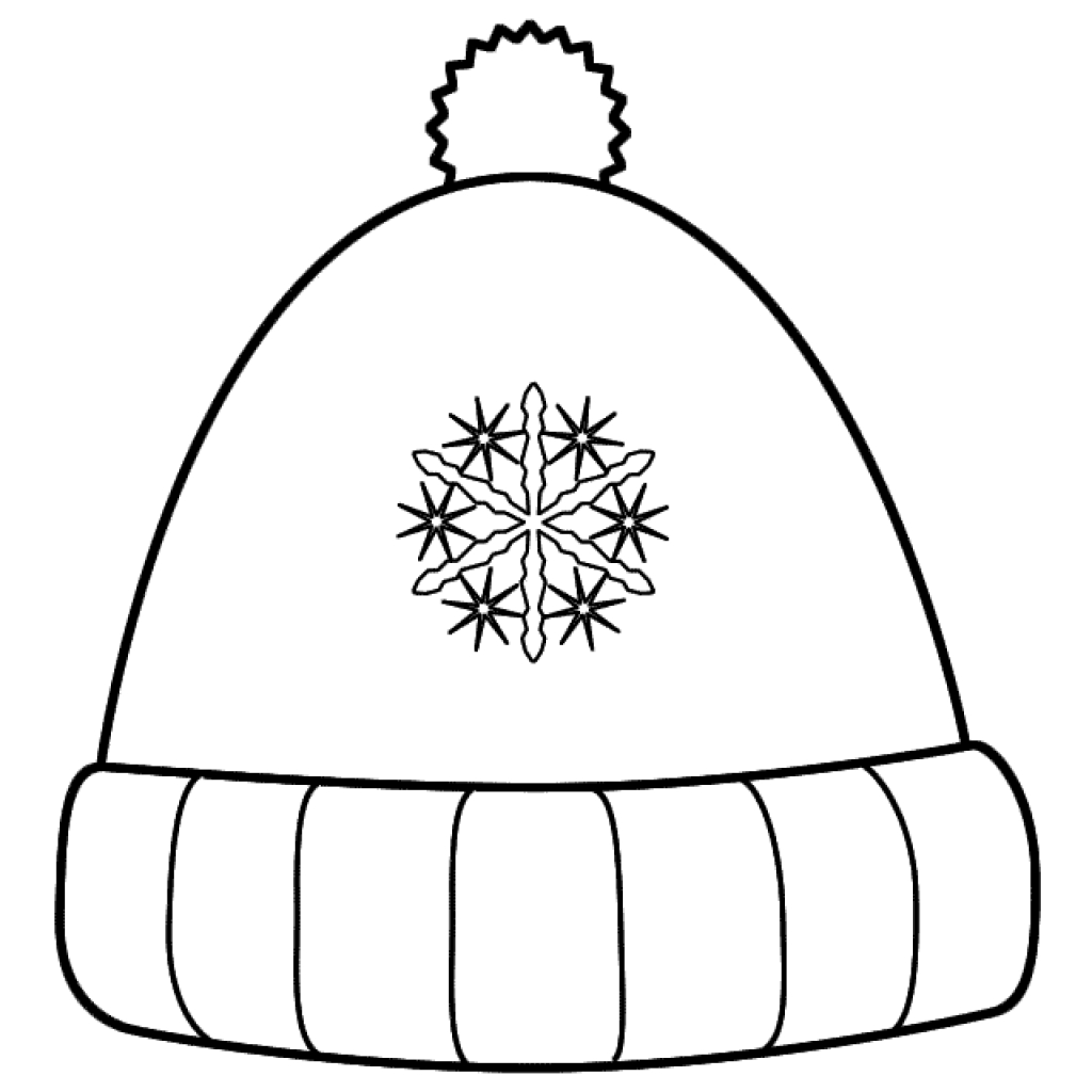 1024x1024 Hat Coloring Pages Getcoloringpages Throughout Winter Page