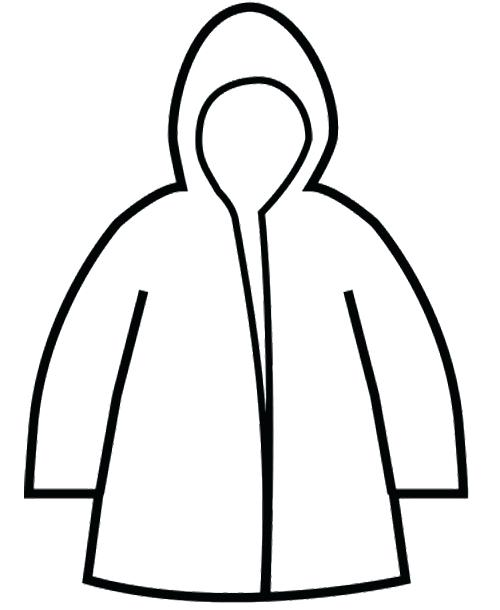 500x610 Or Raincoat Winter Coloring Page Free Printable Winter Hat