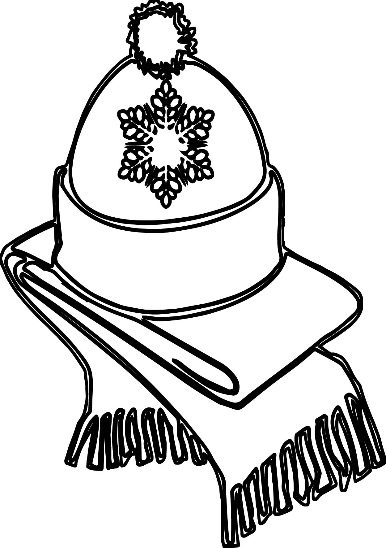 1249x1770 Winter Hat Coloring Page Newyork