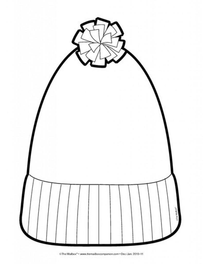 789x1024 Winter Hat Coloring Page Free Cap Pages Beauteous Learnfree Me