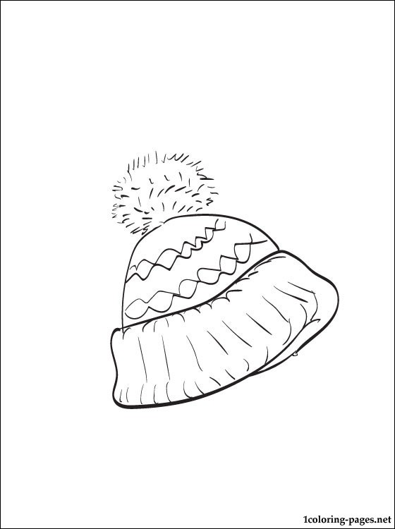 560x750 Winter Hat Coloring Page Coloring Pages