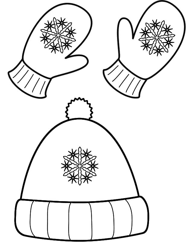 640x800 Free Winter Hat And Mittens Coloring Page Clothing, Training