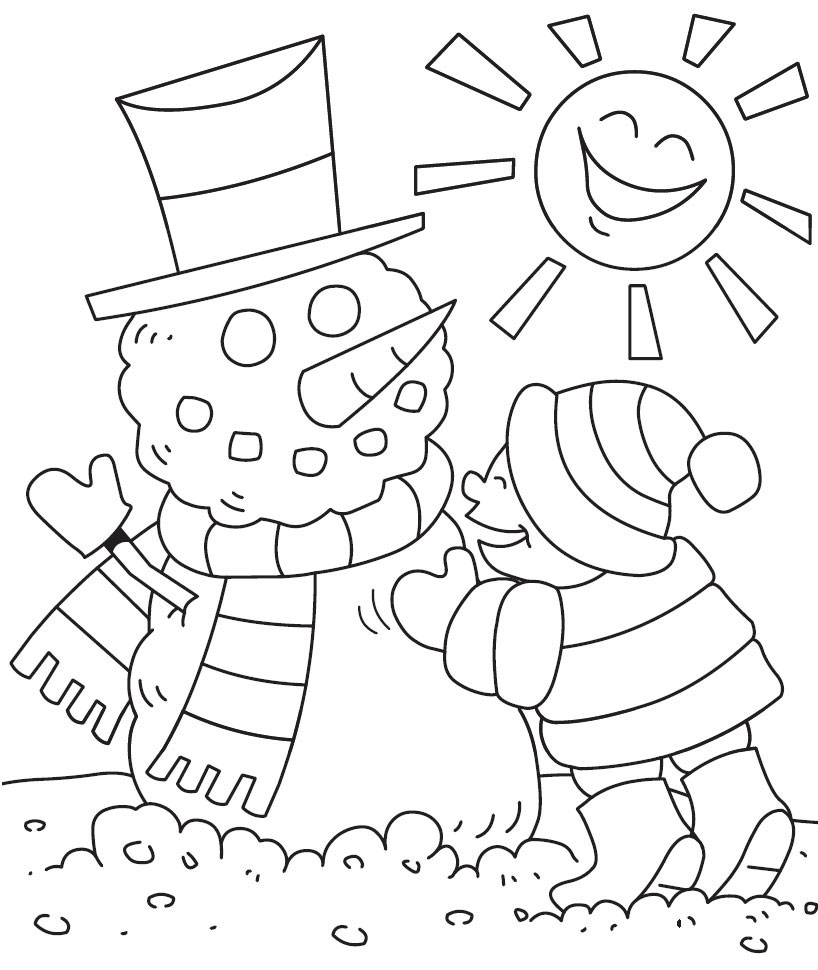 818x970 Free Winter Coloring Pages